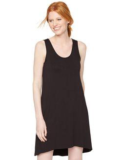 High-low Hem Nursing Nightgown, Black