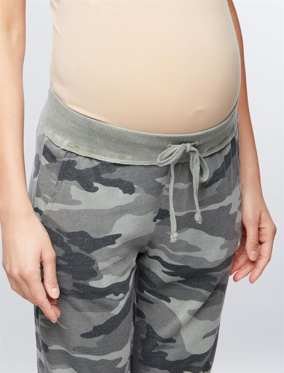 Splendid Camo Maternity Jogger Pants, Camo