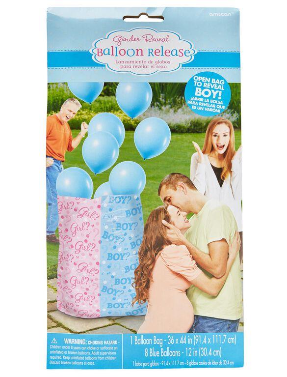 Gender Reveal Balloon Release, Blue