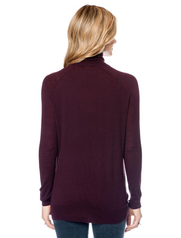 Vince Maternity Turtleneck Sweater, Burgundy