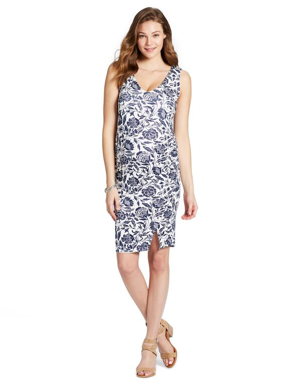 Jessica Simpson Floral Bodycon Maternity Dress, FLORAL PRINT