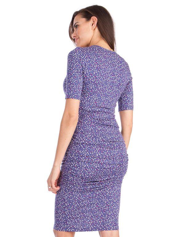 Seraphine Eliza Maternity Dress, Blue Print