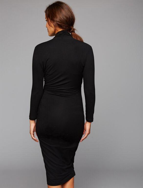 Isabella Oliver Balcome Maternity Dress- Black, Black