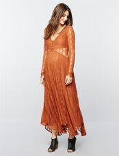 Free People Lace Maternity Maxi Dress, Bronze