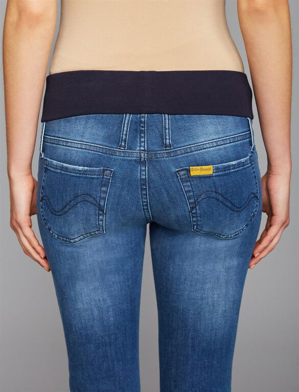 Pietro Brunelli Under Belly Jegging Maternity Jeans, Light Wash