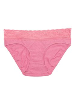 Maternity Bikini Panties (single), Heather Magenta