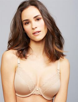 Natori Full Coverage Lightly Lined Nursing Bra, Nude