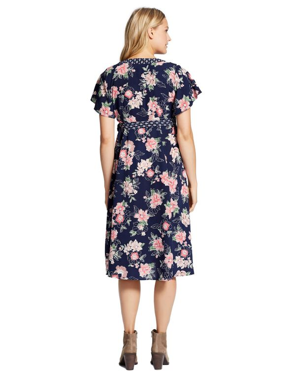 Jessica Simpson Wrap Maternity Dress, Floral Print