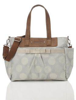 Babymel Cara Retro Diaper Bag– Grey Dot, Grey