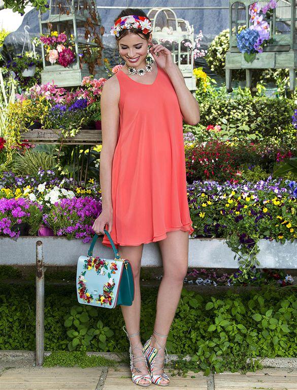 Pietro Brunelli High-Low Maternity Dress, Pink