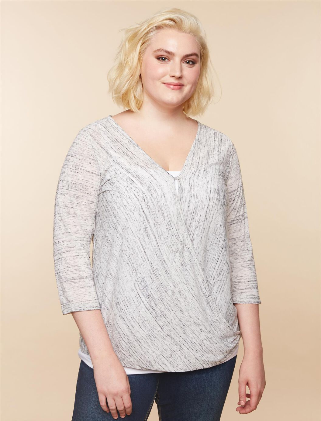 Jessica Simpson Plus Size Pull Over Nursing Shirt at Motherhood Maternity in Victor, NY | Tuggl