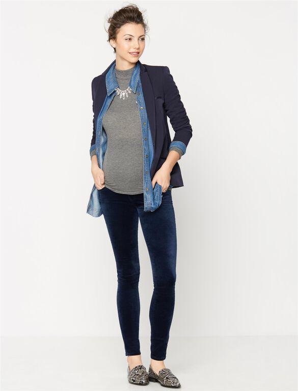 AG Jeans Secret Fit Belly Velvet Legging, Blue Night