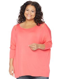 Plus Size Fit And Flare Maternity T Shirt, Rouge Red