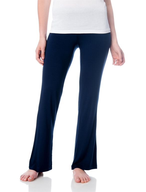 Bow Detail Maternity Sleep Pants- Navy, Navy