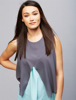 Ripe Pull Over Tiered Nursing Top, Jett/Aqua