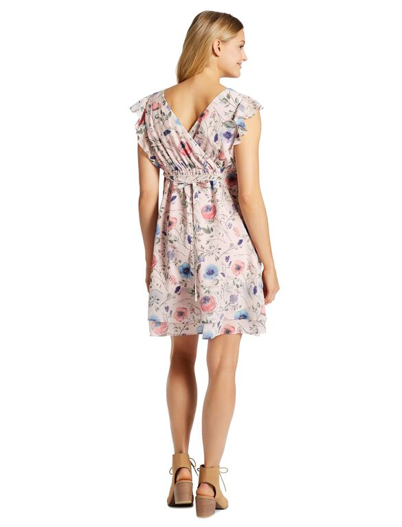 Jessica Simpson Ruffle Front Maternity Dress, Floral Print