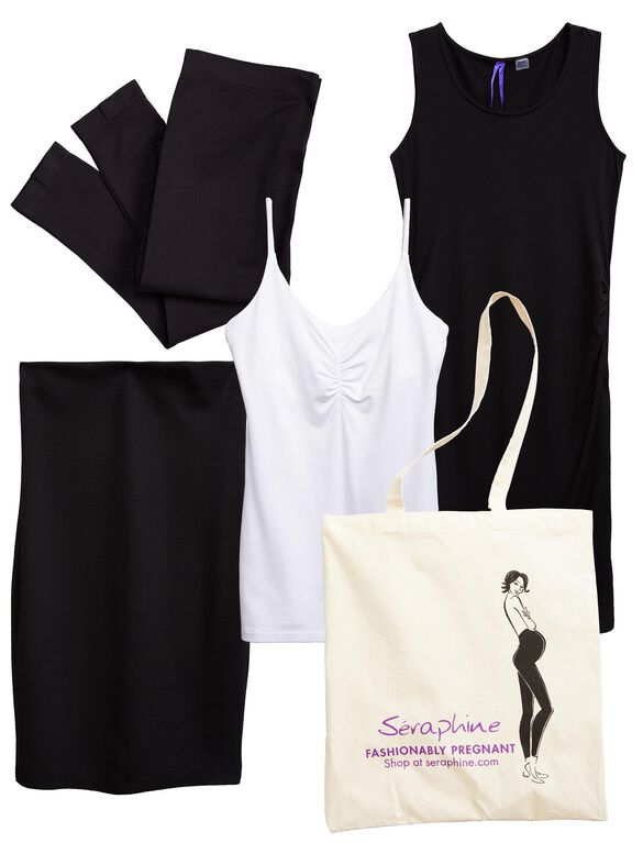 Seraphine 4 Piece Maternity Bump Kit, Black