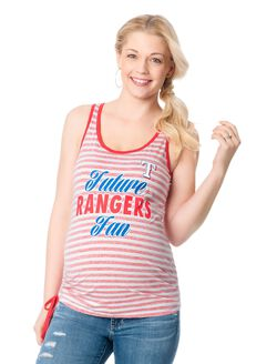 Texas Rangers MLB Maternity Graphic Tank Top, Rangers