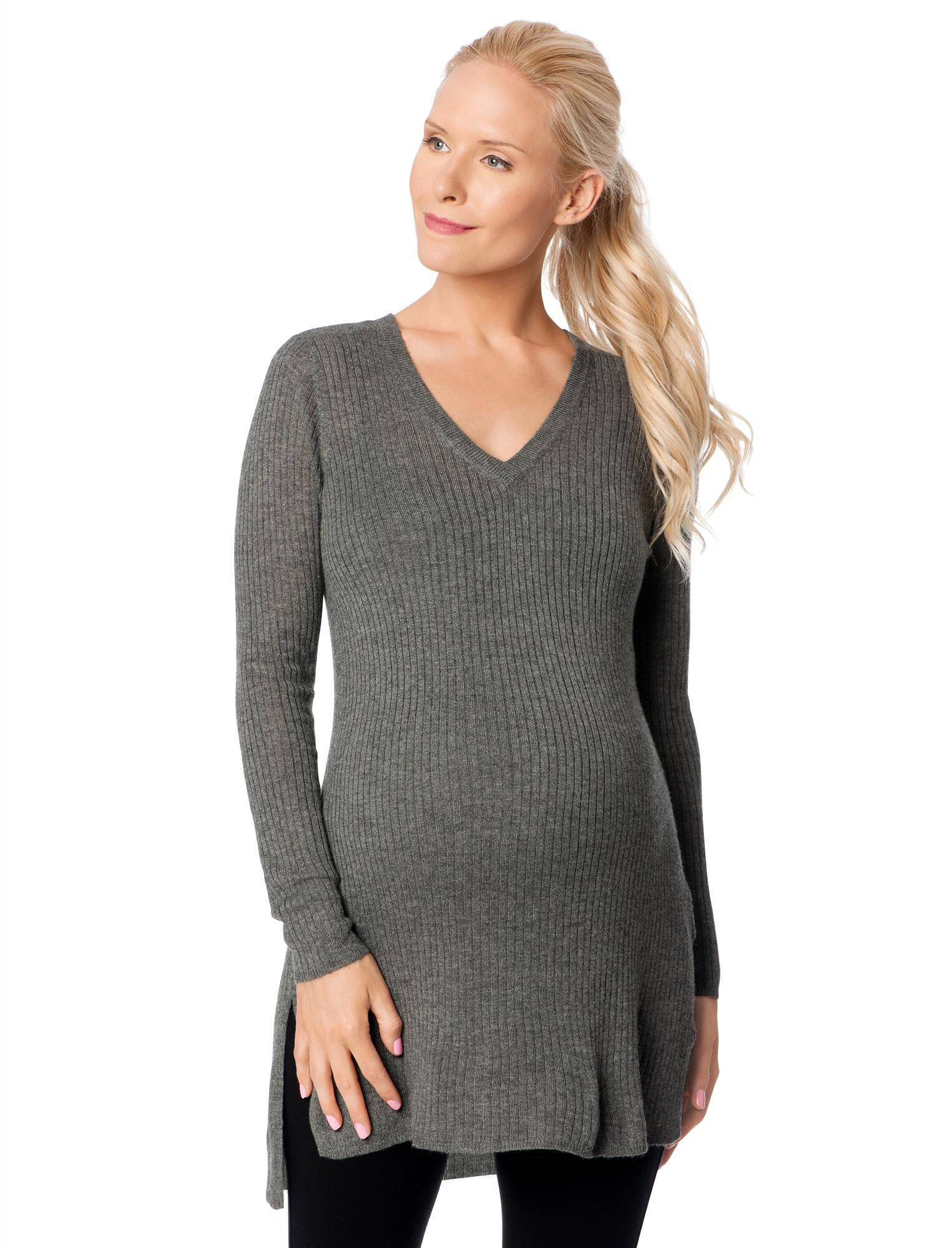 Side Slit Maternity Sweater