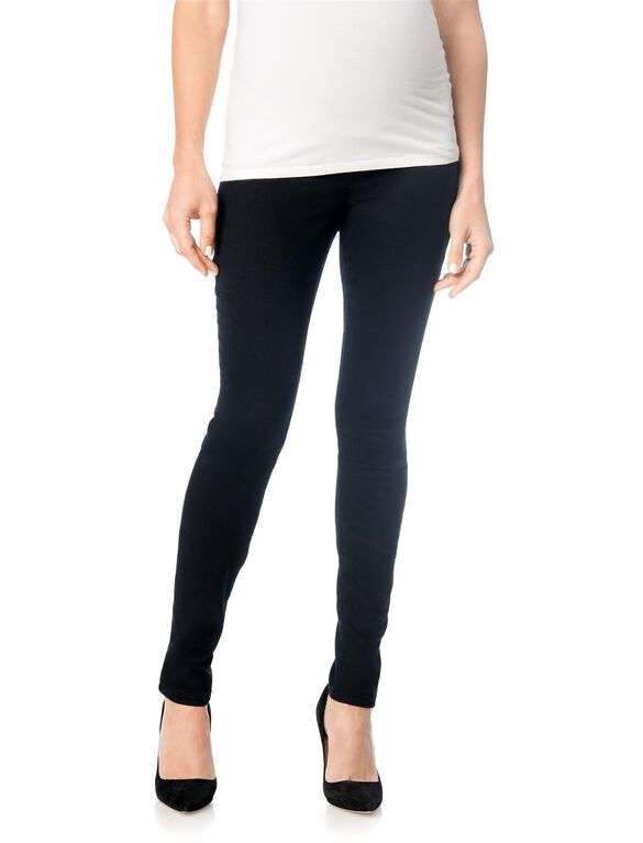 Secret Fit Belly Skinny Leg Maternity Pants- Black, Black