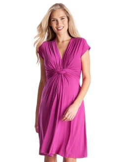 Seraphine Jolene Short Sleeve Maternity Dress- Fuchsia, Fuchsia