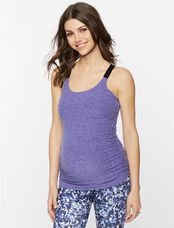 Beyond The Bump Ruched Maternity Cami, Lavendar/Denim