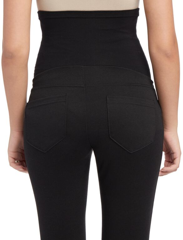 Petite Secret Fit Belly Ponte Skinny Leg Maternity Pants, Black