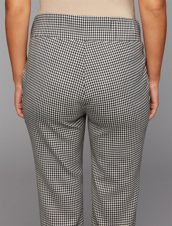 Isabella Oliver Under Belly Houndstooth Maternity Pants, Monochrome Houndstooth
