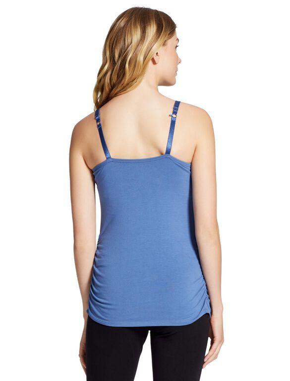 Jessica Simpson Clip Down Shelf Bra Nursing Cami- Solid, Blue