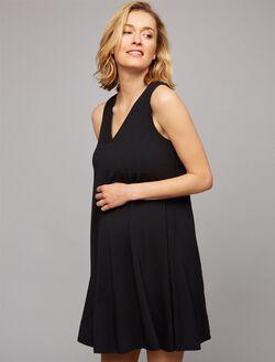 Tart Lace Up Back Maternity Dress, Black