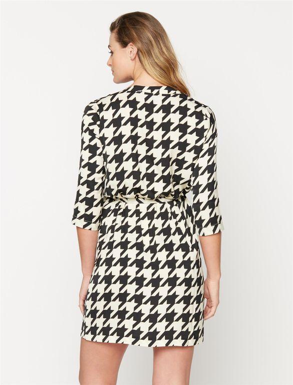 Madderson Maternity Dress, Black/Ivory Hounds