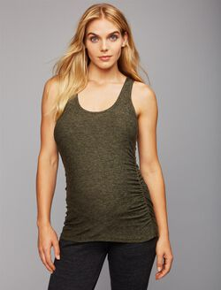 Beyond The Bump Super Soft Maternity Tank Top, Black/Green