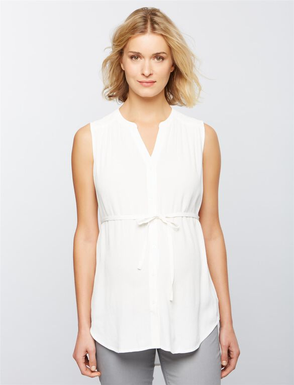Ripe April Nursing Tunic, White