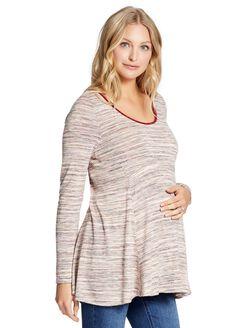 Jessica Simpson Peplum Maternity Tunic, Pink Marl