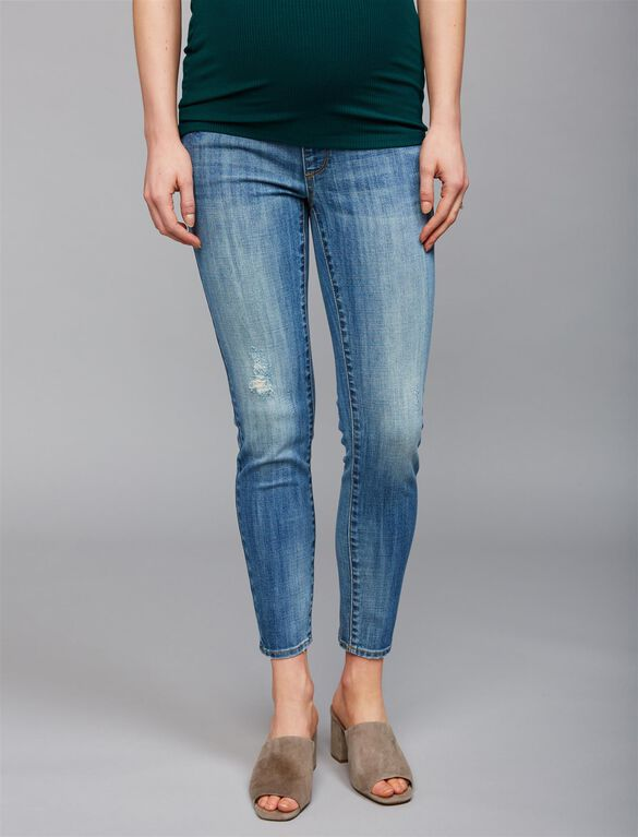 Luxe Essentials Denim Secret Fit Belly Addison Maternity Jeans, Light Wash