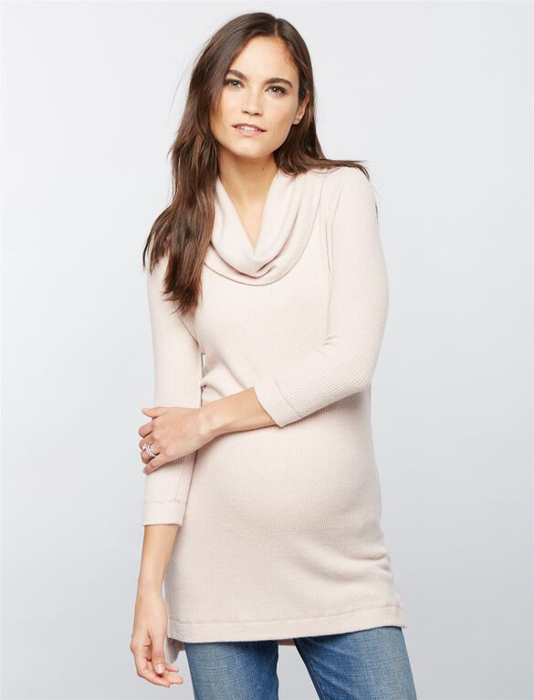 Super Soft Maternity Tunic, Antique Blush