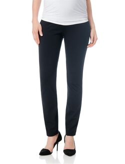 Secret Fit Belly Ponte Skinny Leg Maternity Pants, Black
