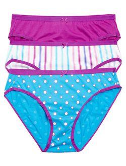 Printed Fabric Maternity Hi-cut Panties (3 Pack), Prp Dot Floral