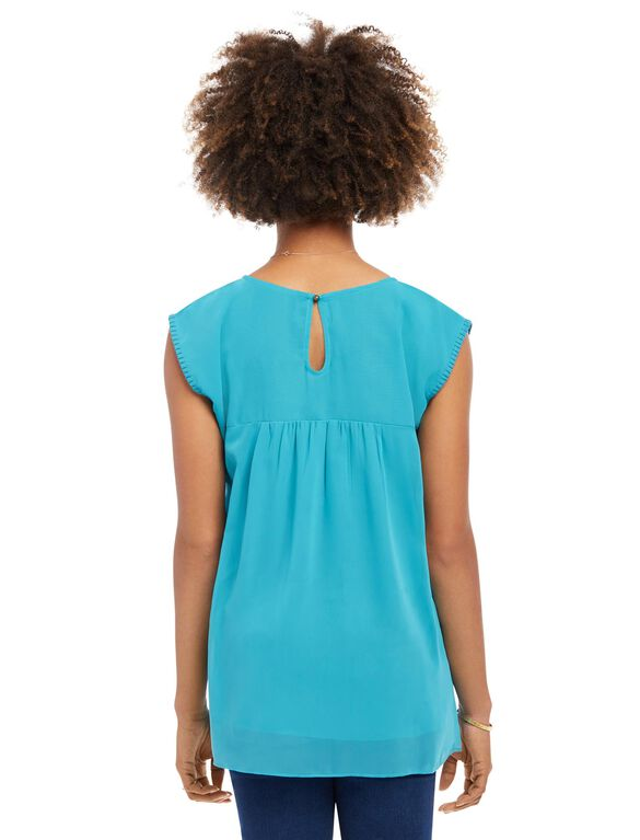 Embroidery Maternity Top, Teal