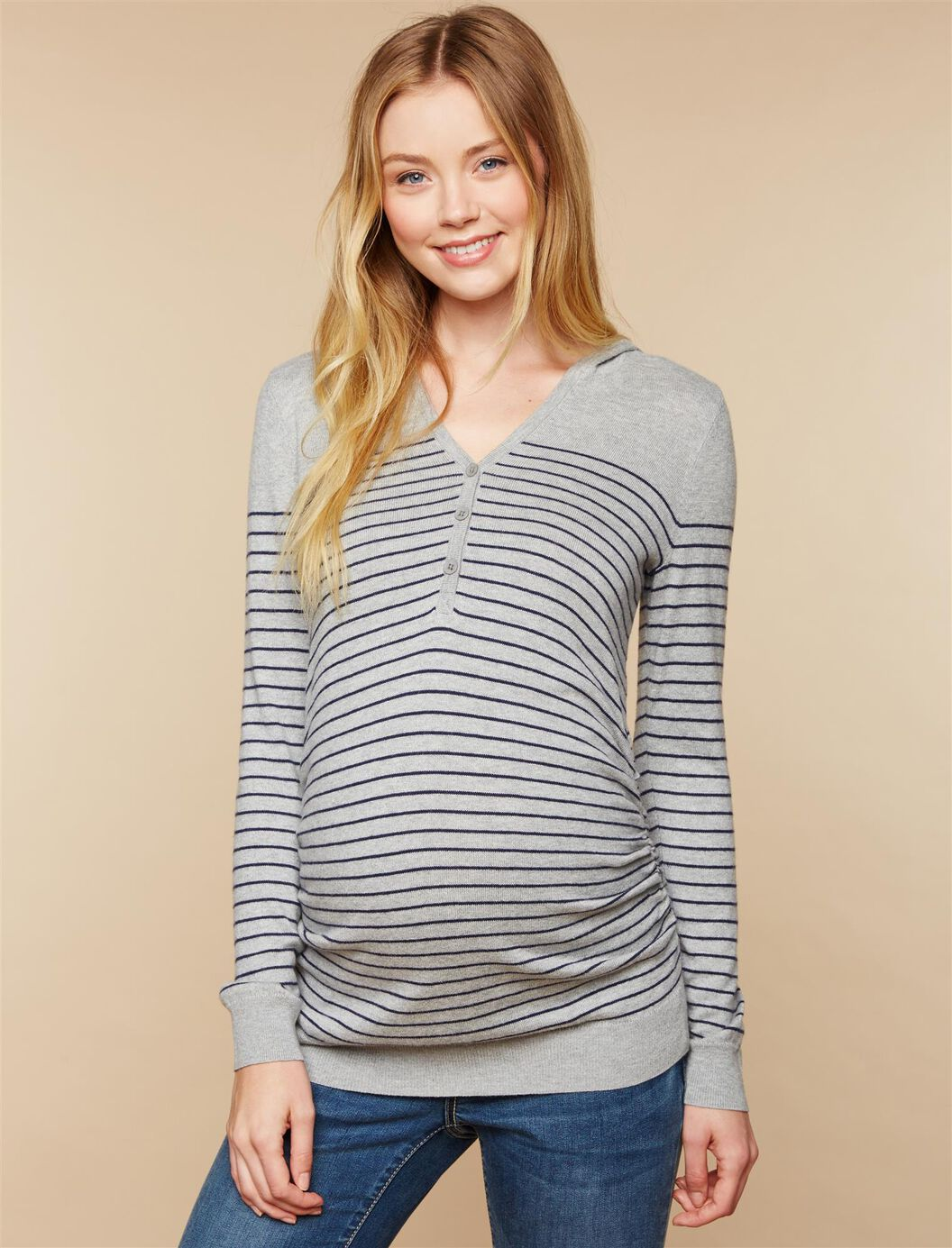 Hooded Maternity Sweater at Motherhood Maternity in Victor, NY | Tuggl