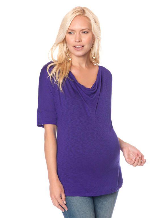 Splendid Maternity T Shirt, Cobalt