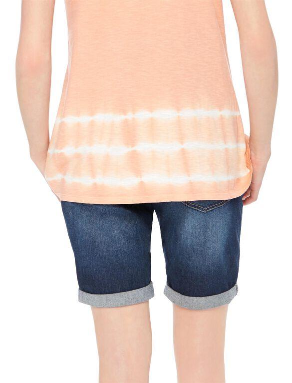 Secret Fit Belly Cuffed Maternity Bermuda Shorts, Dark Wash