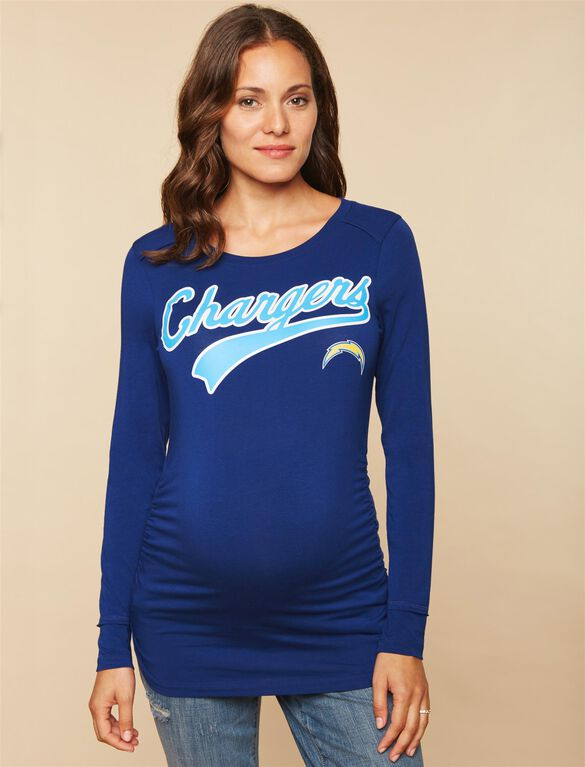 San Diego Chargers NFL Long Sleeve Maternity Tee, Chargers