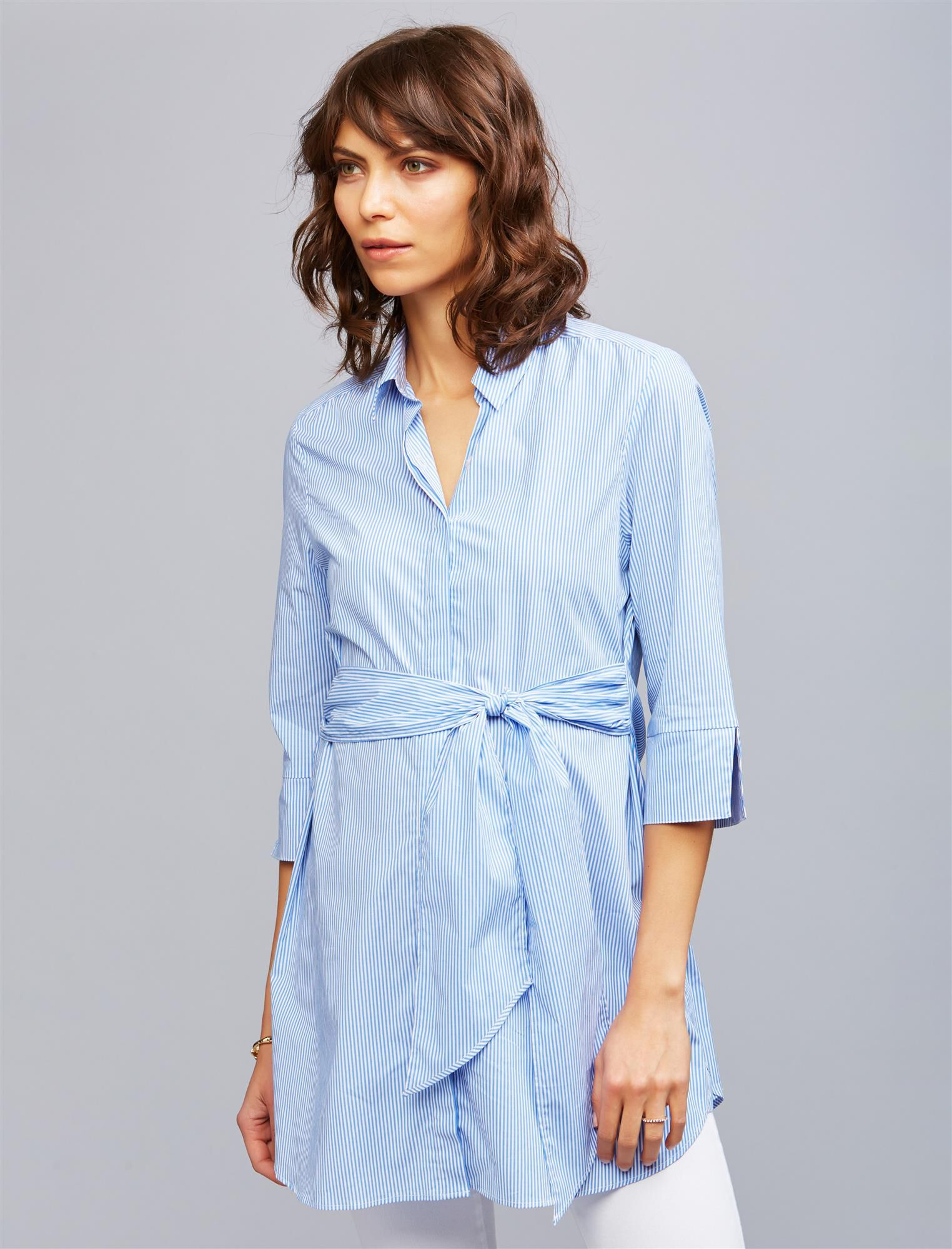 Isabella Oliver Dora Striped Maternity Shirt