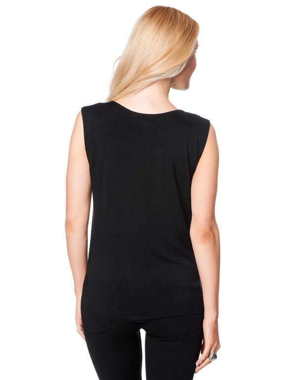 Bailey 44 Faux Leather Maternity T Shirt, Black