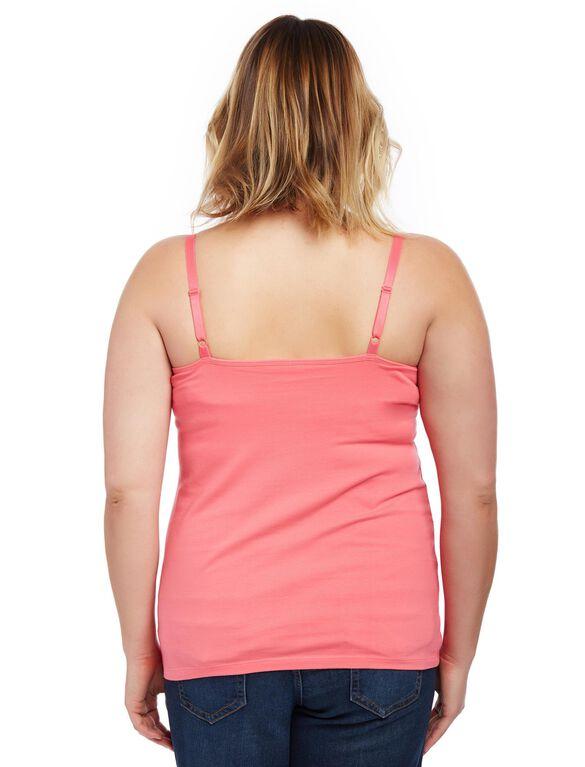 Plus Size Clip Down Nursing Cami, Camellia Rose Pink