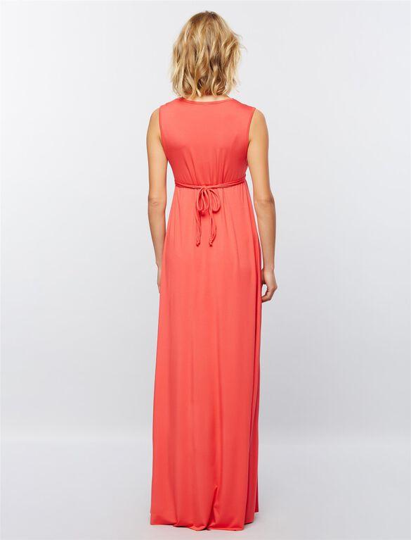 Rachel Pally Shirring Detail Maternity Maxi Dress, Foxy Pink