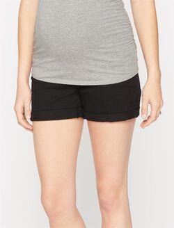 7 For Mankind Secret Fit Belly 5 Pocket Maternity Shorts, Black