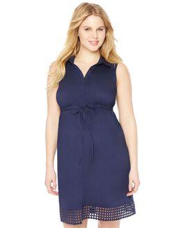 Back Interest Maternity Dress, Navy