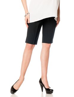 Secret Fit Belly Back Pockets Maternity Shorts, Black